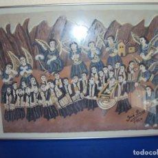 Arte: (ANT-180599)PINTURA NAIF JOSE PRAT (CAPELLADES 1900-IGUALADA 1967)-ESCOLANIA DE MONTSERRAT. Lote 166251290