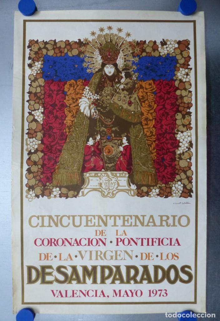 CINCUENTENARIO CORONACION PONTIFICA DE LA VIRGEN DE LOS DESAMPARADOS - VALENCIA - AÑO 1973 (Arte - Arte Religioso - Litografías)
