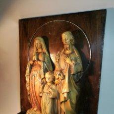 Arte: RETABLO ICONO SAGRADA FAMILA EN ESTUCO AÑOS 30-40 ART DECO ESPAÑA....REF-DC. Lote 166318534
