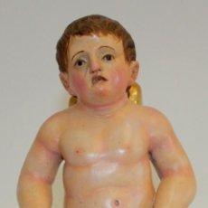 Arte: PRECIOSO ANGEL BARROCO EN MADERA TALLADA Y POLICROMADA. SIGLO XVIII. Lote 166415346