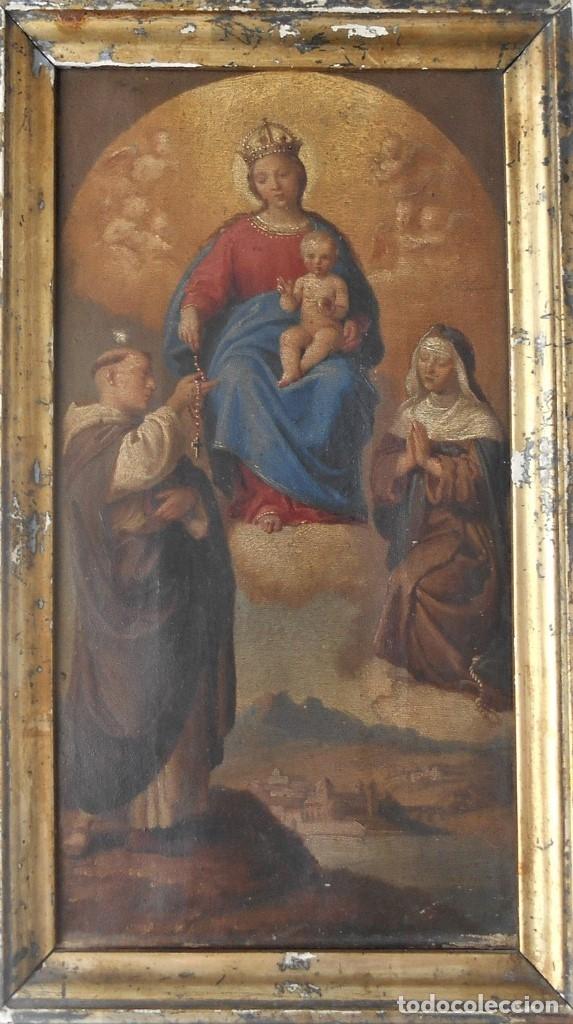 Arte: Pintura escena religiosa siglo XVIII-XIX - Foto 5 - 165700430