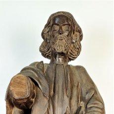 Arte: SANTO. MADERA TALLADA. NOGAL (?). PROBABLE PRODUCCIÓN GALLEGA. ESPAÑA. SIGLO XVII. Lote 166519374