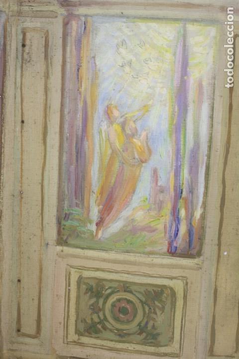 Arte: Francesc Vidal Gomà, esbozo preparatorio para la iglesia de Santa Maria de Olost, 1941, maqueta. - Foto 7 - 166547030