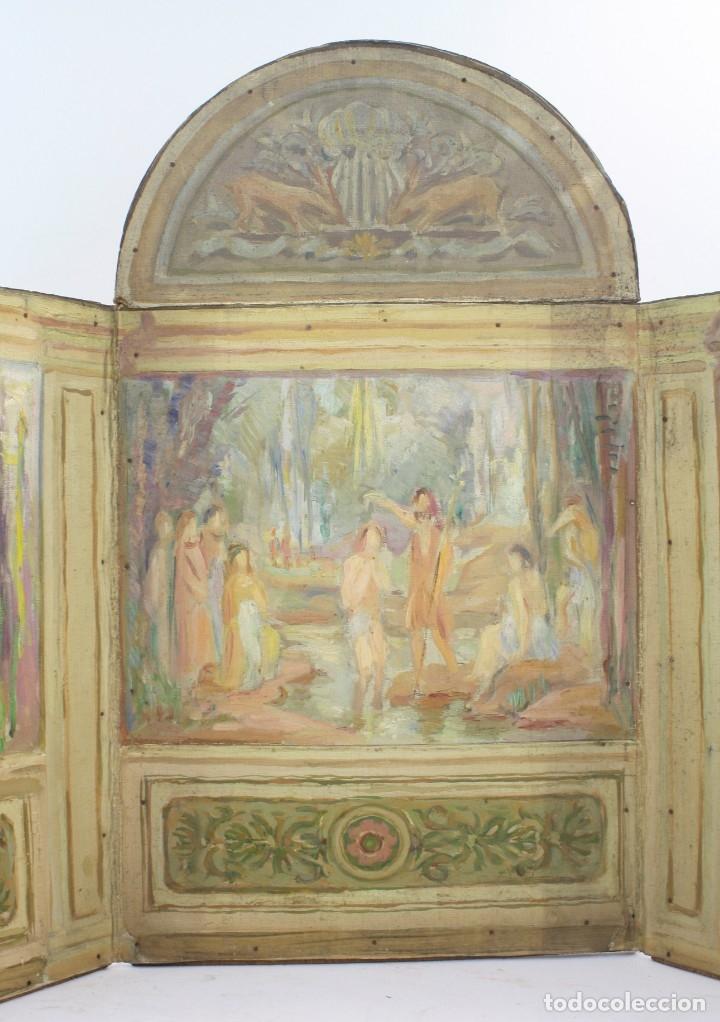 Arte: Francesc Vidal Gomà, esbozo preparatorio para la iglesia de Santa Maria de Olost, 1941, maqueta. - Foto 2 - 166547030