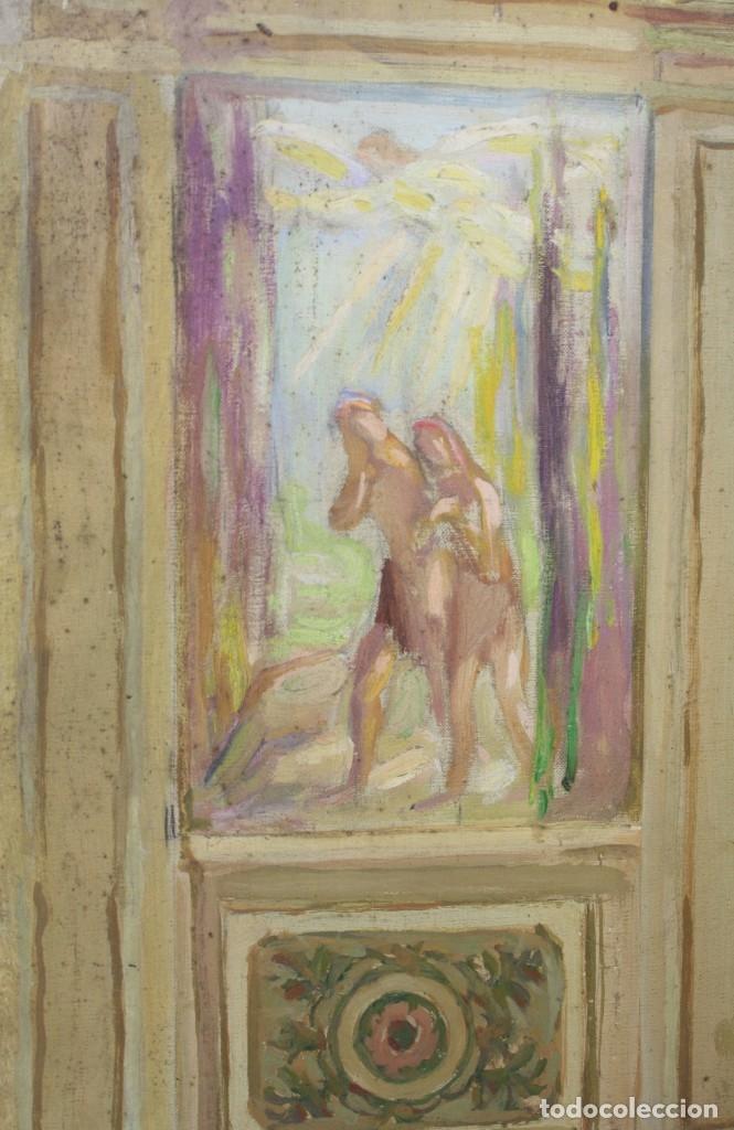 Arte: Francesc Vidal Gomà, esbozo preparatorio para la iglesia de Santa Maria de Olost, 1941, maqueta. - Foto 6 - 166547030