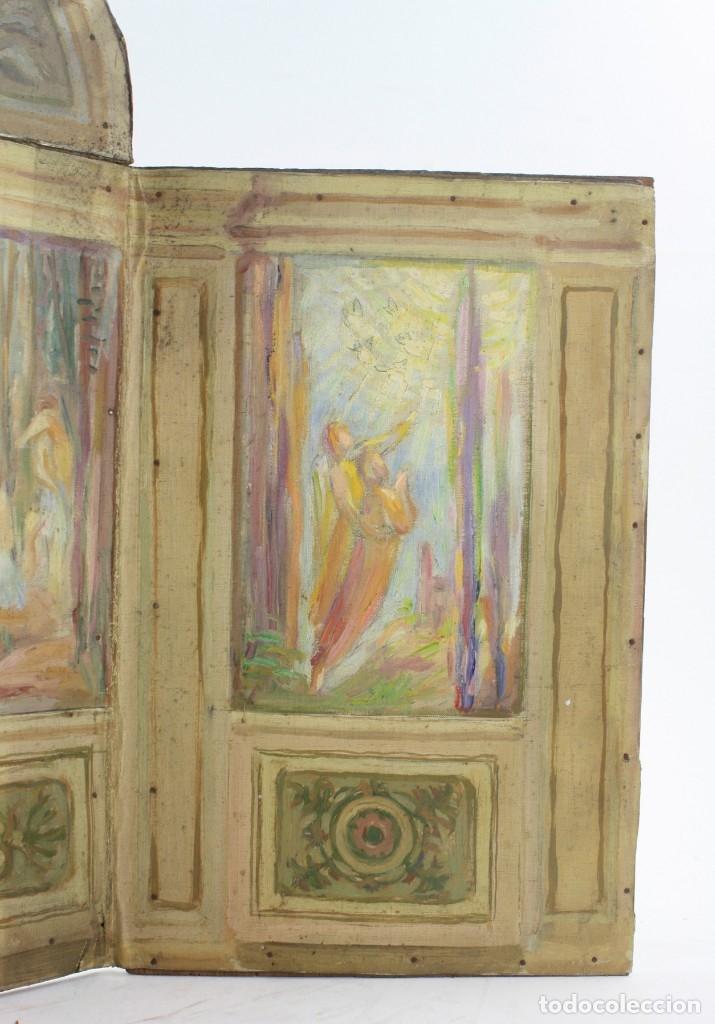Arte: Francesc Vidal Gomà, esbozo preparatorio para la iglesia de Santa Maria de Olost, 1941, maqueta. - Foto 4 - 166547030