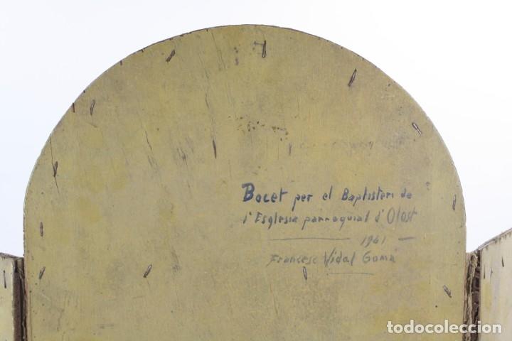 Arte: Francesc Vidal Gomà, esbozo preparatorio para la iglesia de Santa Maria de Olost, 1941, maqueta. - Foto 10 - 166547030