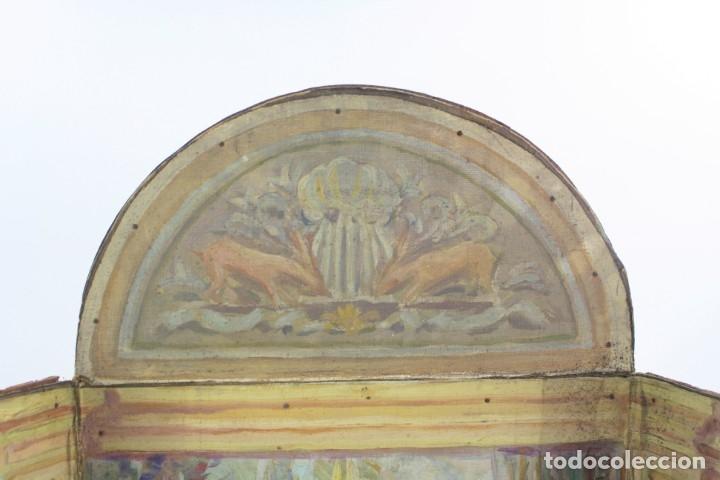 Arte: Francesc Vidal Gomà, esbozo preparatorio para la iglesia de Santa Maria de Olost, 1941, maqueta. - Foto 8 - 166547030