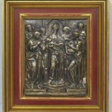 Arte: PRESENTACION DE JESUS EN EL TEMPLO. BAJORRELIEBVE DE COBRE PATINADO. Lote 166594450