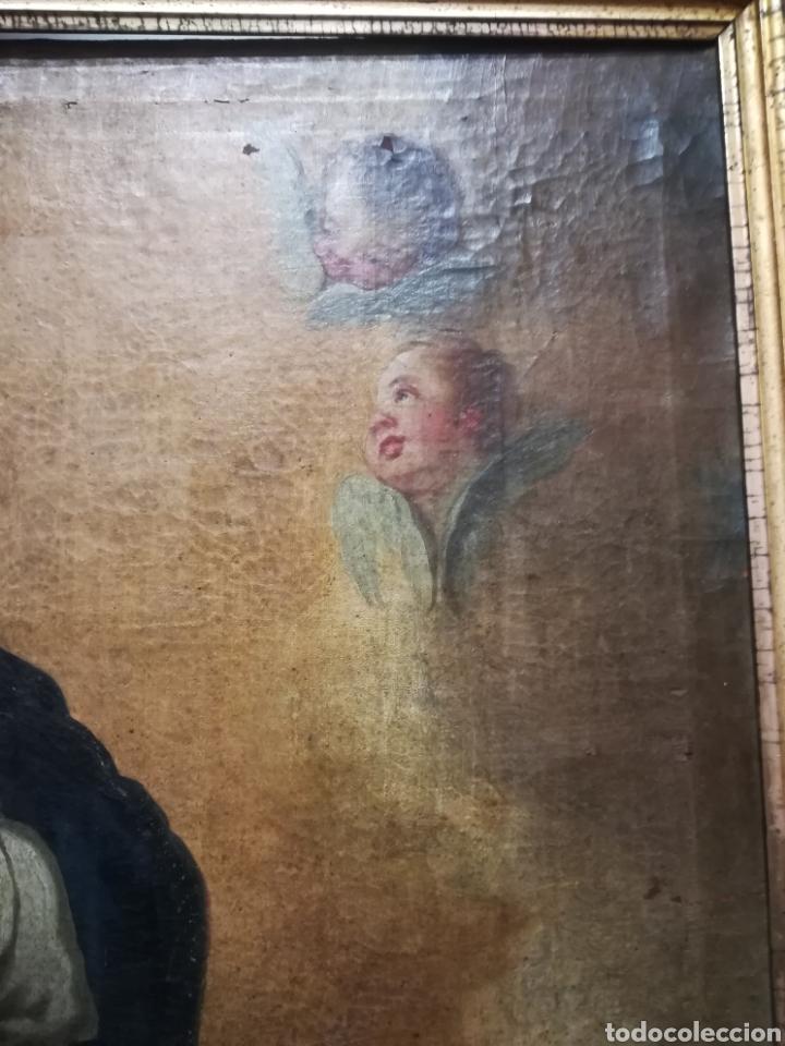Arte: Inmaculada óleo sobre lienzo XVIII original - Foto 3 - 166720526