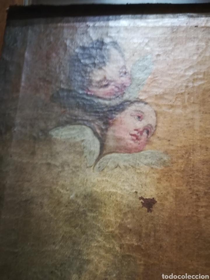 Arte: Inmaculada óleo sobre lienzo XVIII original - Foto 4 - 166720526