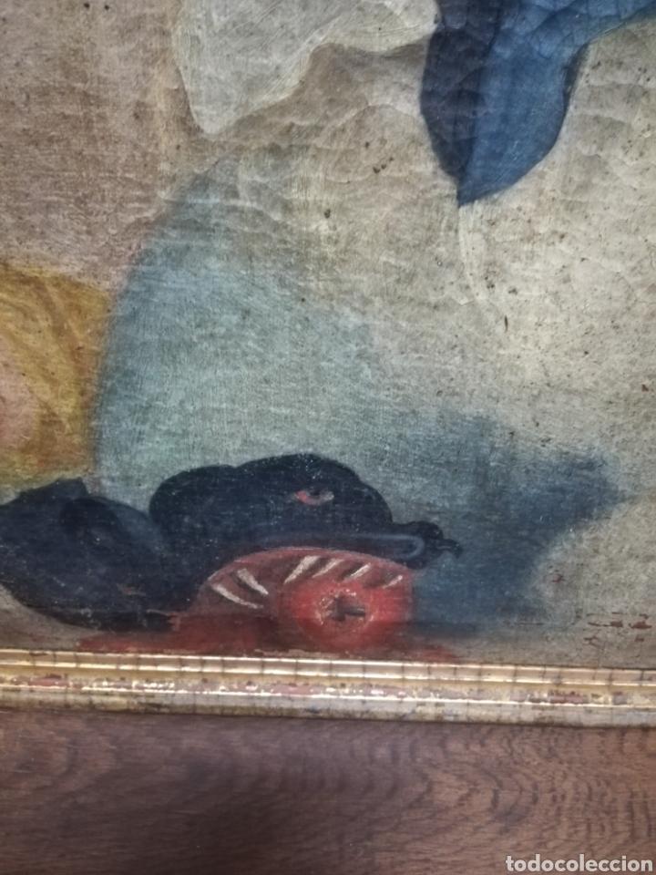 Arte: Inmaculada óleo sobre lienzo XVIII original - Foto 10 - 166720526