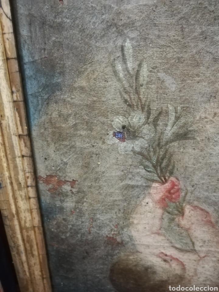 Arte: Inmaculada óleo sobre lienzo XVIII original - Foto 13 - 166720526