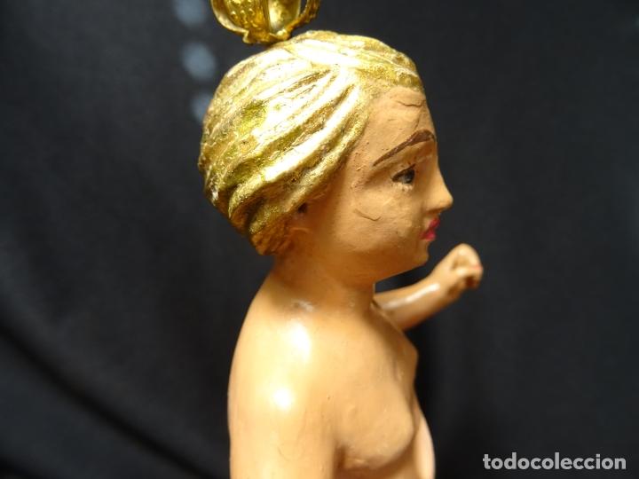 Arte: talla en madera figura niño jesus de la bola. colonial.siglo XVIII. - Foto 11 - 187177405