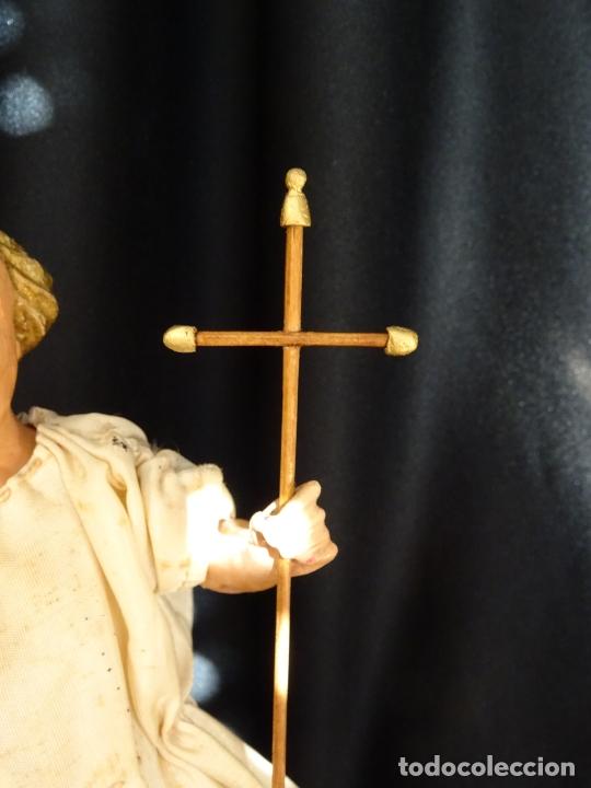 Arte: talla en madera figura niño jesus de la bola. colonial.siglo XVIII. - Foto 25 - 187177405