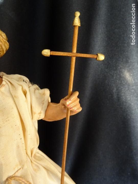 Arte: talla en madera figura niño jesus de la bola. colonial.siglo XVIII. - Foto 26 - 187177405