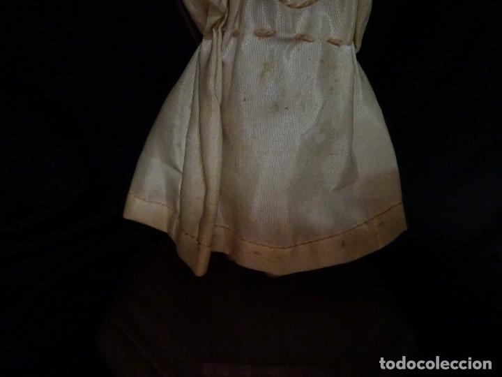 Arte: talla en madera figura niño jesus de la bola. colonial.siglo XVIII. - Foto 28 - 187177405