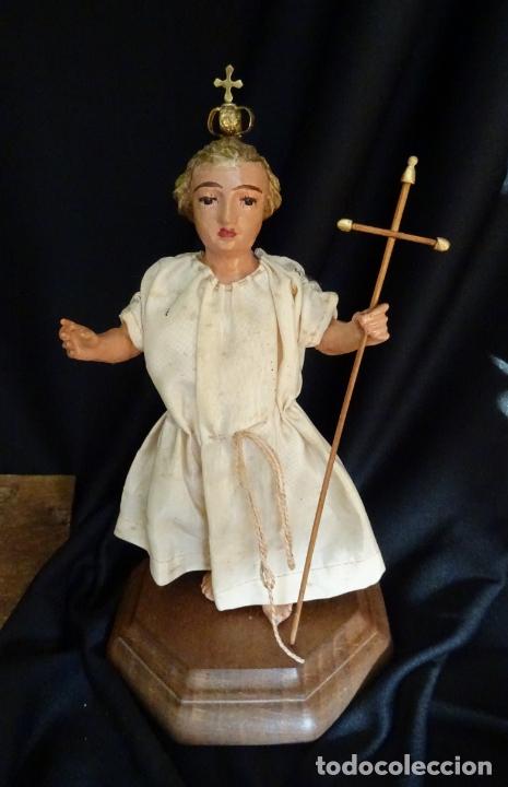 Arte: talla en madera figura niño jesus de la bola. colonial.siglo XVIII. - Foto 30 - 187177405