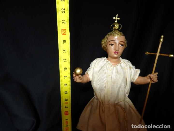 Arte: talla en madera figura niño jesus de la bola. colonial.siglo XVIII. - Foto 31 - 187177405