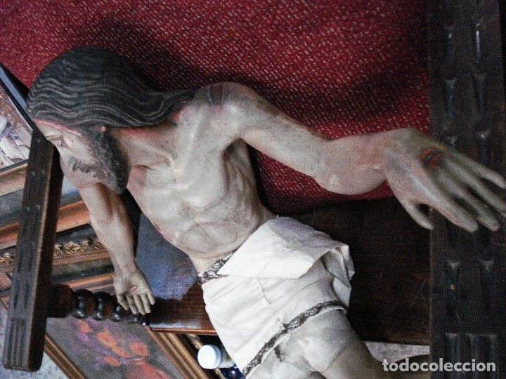 Arte: Cristo yacente talla de madera grandes medidas - Foto 4 - 166794798