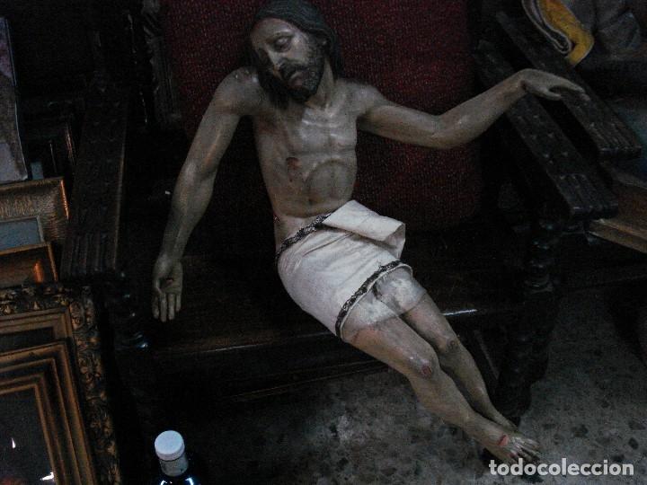 Arte: Cristo yacente talla de madera grandes medidas - Foto 2 - 166794798