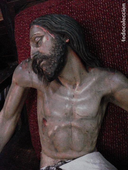 Arte: Cristo yacente talla de madera grandes medidas - Foto 3 - 166794798