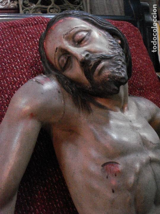 Arte: Cristo yacente talla de madera grandes medidas - Foto 7 - 166794798