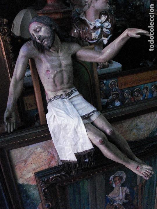 Arte: Cristo yacente talla de madera grandes medidas - Foto 9 - 166794798