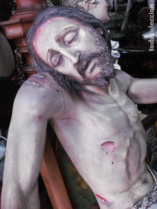 Arte: Cristo yacente talla de madera grandes medidas - Foto 10 - 166794798