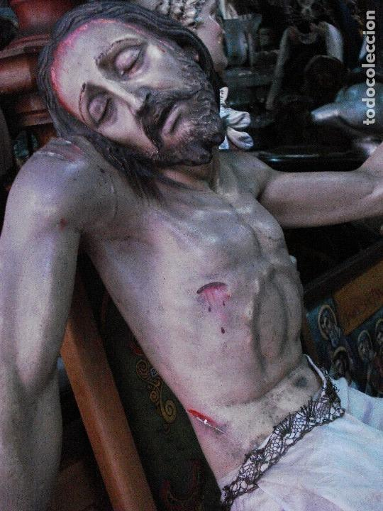 Arte: Cristo yacente talla de madera grandes medidas - Foto 12 - 166794798