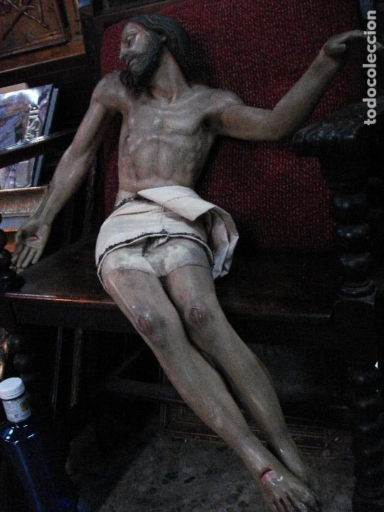 CRISTO YACENTE TALLA DE MADERA GRANDES MEDIDAS (Arte - Arte Religioso - Escultura)