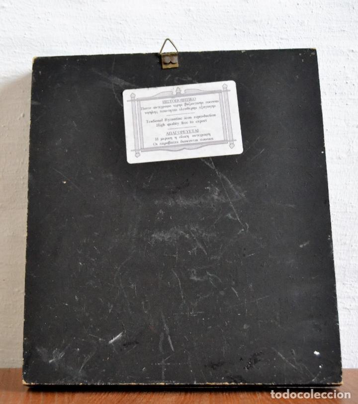 Arte: ICONO BIZANTINO * VIRGEN CON NIÑO DE METAL REPUJADO - Foto 4 - 166813866