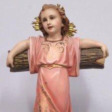 Arte: PRECIOSO NIÑO JESUS DE OLOT. OJOS DE CRISTAL. Lote 166864532