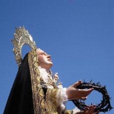 Arte: VIRGEN DOLOROSA CAP I POTA PROCESIONAL GRANDES MEDIDAS TALLA DE MADERA CAP I POTA. Lote 166866348