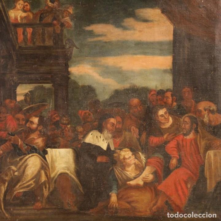Arte: Antigua pintura religiosa italiana del siglo XVIII - Foto 2 - 166867372