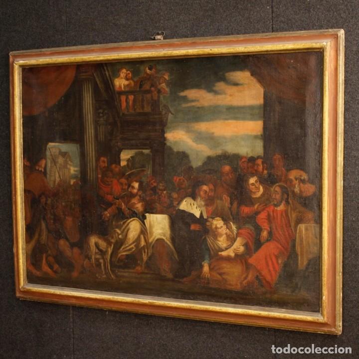 Arte: Antigua pintura religiosa italiana del siglo XVIII - Foto 8 - 166867372
