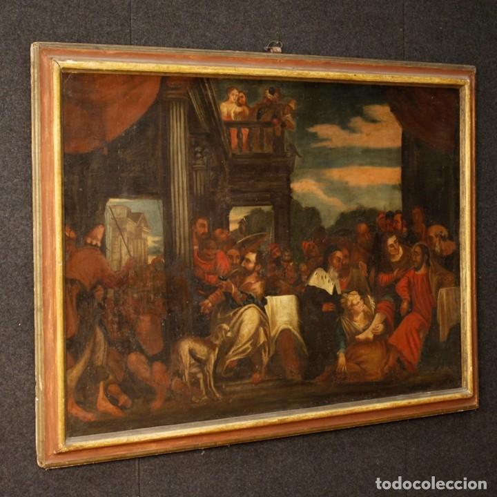 Arte: Antigua pintura religiosa italiana del siglo XVIII - Foto 9 - 166867372