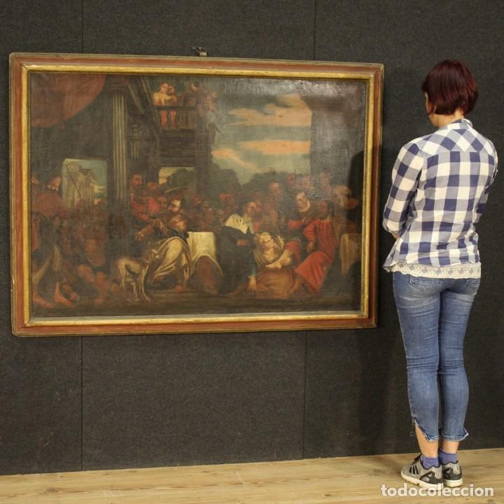 Arte: Antigua pintura religiosa italiana del siglo XVIII - Foto 12 - 166867372
