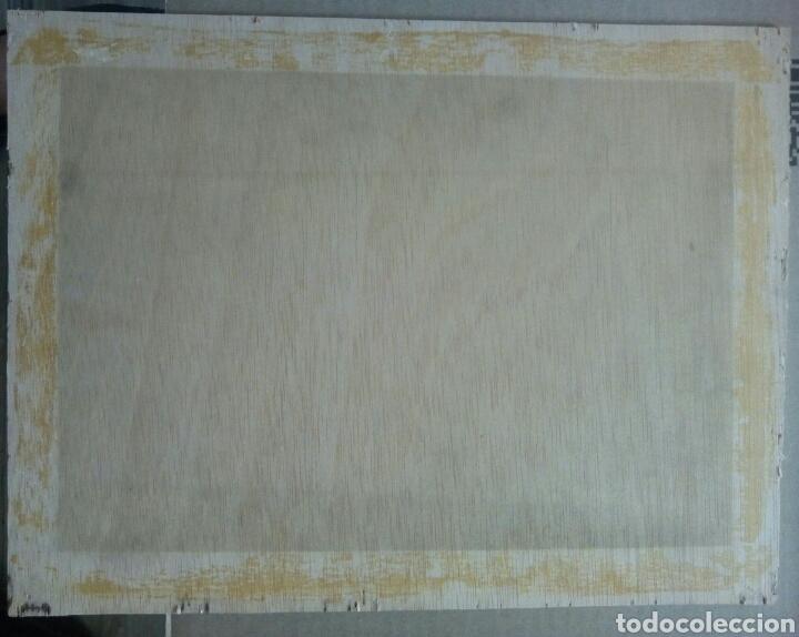 Arte: Virgen Inmaculada Concepción. Escuela Cusqueña, óleo sobre tela pegado a tablex. Firmado. - Foto 11 - 166940768