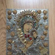 Arte: ICONO RELIGIOSO ARTE BIZANTINO PLATA REPUJADA. Lote 167037996
