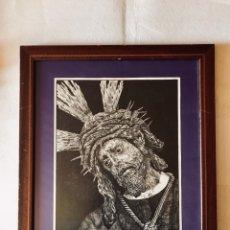 Arte: SEMANA SANTA SEVILLA. SENSACIONAL DIBUJO A TINTA DE JESÚS DEL GRAN PODER.. Lote 167054174