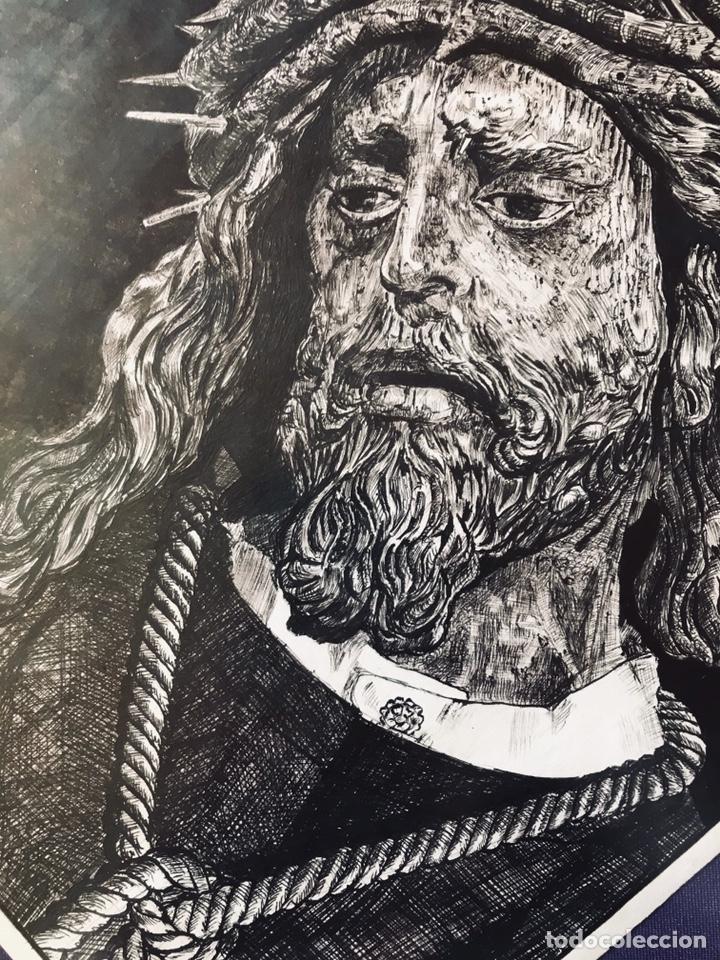Arte: SEMANA SANTA SEVILLA. DIBUJO A TINTA DE JESÚS DEL GRAN PODER. MANUEL BOLAÑOS - 2001 - Foto 2 - 167054174