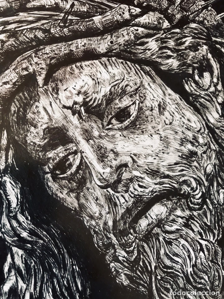 Arte: SEMANA SANTA SEVILLA. DIBUJO A TINTA DE JESÚS DEL GRAN PODER. MANUEL BOLAÑOS - 2001 - Foto 3 - 167054174
