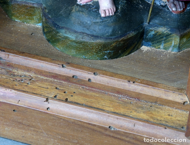 Arte: Capilla limosna visita domiciliaria Sagrada Familia en madera tallada policromada siglo XX - Foto 7 - 167120676