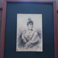 Arte: ANTIGUO DIBUJO CARBONCILLO ORIGINAL MAESTRO AMADEO ROCA FIRMA DO PRECIO: 1.700,00 €. Lote 167138316