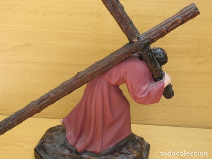 Arte: ESCULTURA RELIGIOSA DE JESÚS NAZARENO CON PEANA - Foto 4 - 167200972