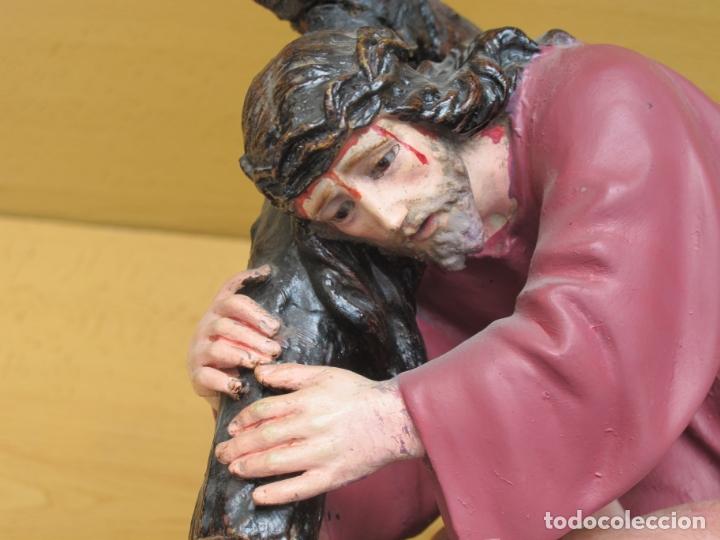 Arte: ESCULTURA RELIGIOSA DE JESÚS NAZARENO CON PEANA - Foto 5 - 167200972