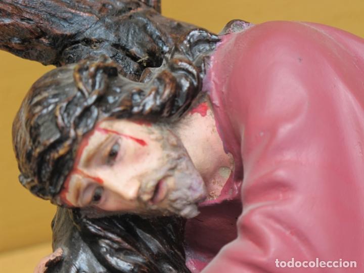 Arte: ESCULTURA RELIGIOSA DE JESÚS NAZARENO CON PEANA - Foto 6 - 167200972