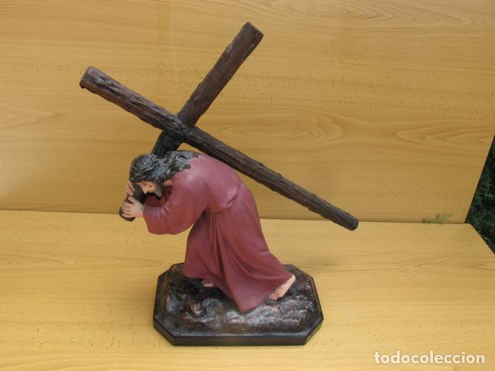 ESCULTURA RELIGIOSA DE JESÚS NAZARENO CON PEANA (Arte - Arte Religioso - Escultura)