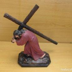 Arte: ESCULTURA RELIGIOSA DE JESÚS NAZARENO CON PEANA. Lote 167200972